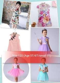 Size 120 (age 5T/6T/small 7T) - Brand new Cheongsam Qipao Dress Skirt for Girl Toddler Baby