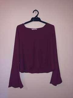 Cute Flowy Bell Sleeve Top