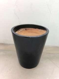 Black Ceramic Planter Pot