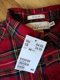H&M Regular LOGG XS Shirt