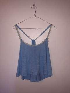 Cute Blue Daisy Top