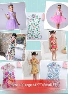Size 130 (age 6T/7T/Small 8T) - Brand new Cheongsam Qipao Dress Skirt for Girl Toddler Baby