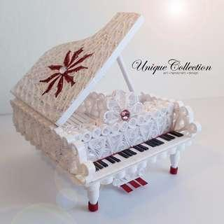 [VALENTINE'S DAY GIFT] Handmade Paper Quilling Miniature Piano
