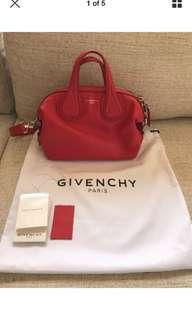 Authentic givenchy micro nightingale leather bag