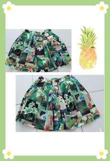 #Green Floral Skirt F9031 #青色花系短裙 #CNY