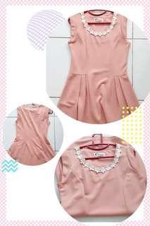 #Simple Peach Dress F9029 #连身裙 #CNY