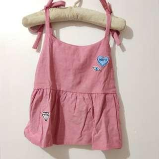 Tied Up Sleeveless with patches