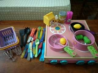 Wooden Toys - Stephen Joseph and Ikea cooking toys