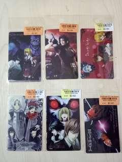 🚚 Anime Card Stickers! DEATH NOTE, D.GRAY-MAN, FINAL FANTASY CRISIS CORE