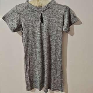 Gray Dress with hole