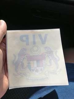 VIP Menteri Sticker