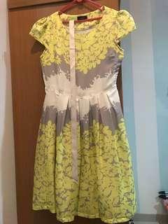 Amary Dress neon-grey