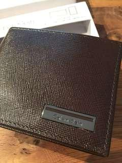 Calvin Klein Brown Leather Wallet (price reduced)