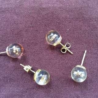二手正貨 Louis Vuitton Monogram 耳環二對