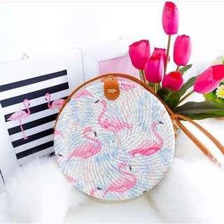 Rattan Bag Flaminggo
