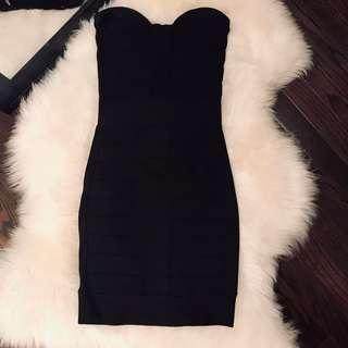 French Connection Black Bandage Dress - size 0 / xs