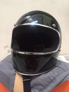 Full face vintage Caferacer helmet