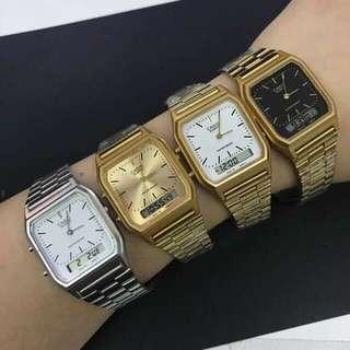 authentic analog /dual time vintage casio