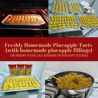 Freshly Homemade Pineapples Tarts - Chinese New Year