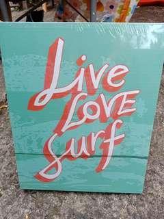 Live Love Surf Frame