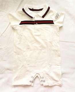 Gucci onesies short white Inspired