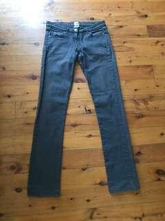 Women's sass & bide faded black straight leg jeans size 30