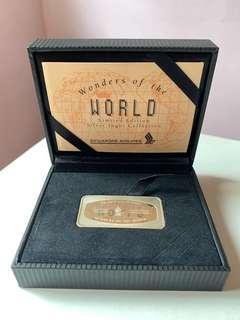 Singapore Airlines Limited Edition Wonders of the World Silver Ingot Collection