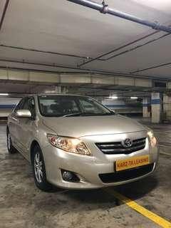 TOYOTA COROLLA ALTIS 1.6 AUTO! Promo Now! Petrol Saver Proven! 18% off petrol Card! Lowest Price! Can Drive Go-Jek/Grab/Ryde/Tada/Sixtnc! Flexible Rental Scheme! Personal User! Call Now!