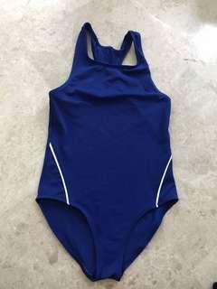 🚚 BN Blue & Black Swimming Costume