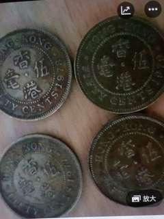 香港英女王五毫2套$5077年全80年