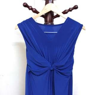Royal Blue Back-tie Dinner/Evening Dress #JAN50