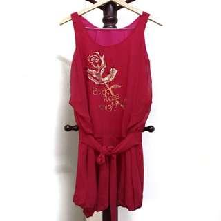 Chiffon Sleeveless Dress #CNYRED #JAN50