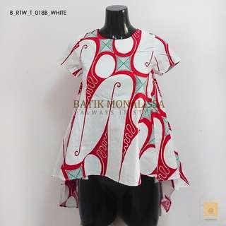 Batik Blouse Back Long in White