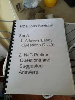H2 Economic study revision set #Springcleanandcarousell50