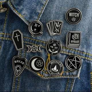 (PO) Cute Ouija Brooches