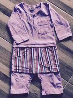 Romper Baju Melayu   Firtscutebaby   Purple