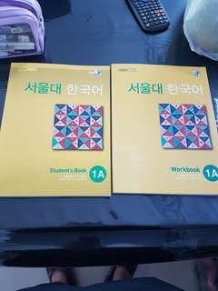 SNU Korean Textbook 1a and workbook 1a