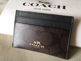 Coach card case (Genuine)