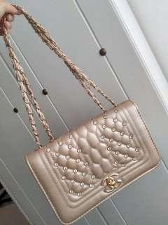Rose gold Sling Bag