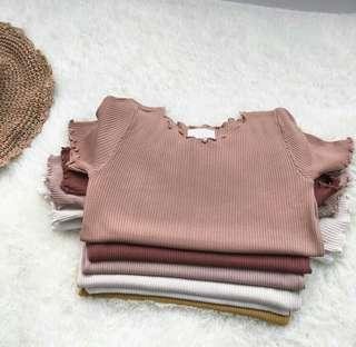 [INSTOCK] pink ribbed top 💕🍫