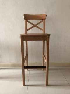 Ikea Bar Stool (INGOLF)