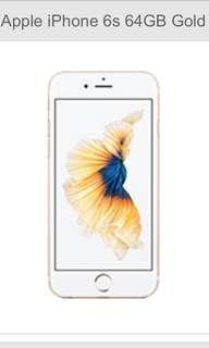 iPhone 6S 64GB Gold in pristine condition $250