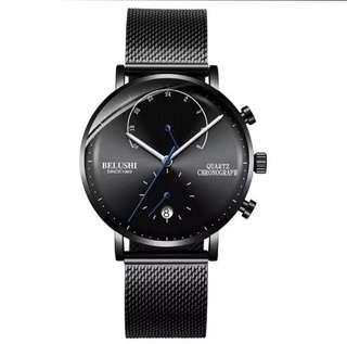 Jam tangan cronograph antik merk BELUSHI