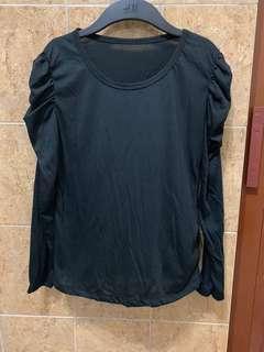inner puff shoulder black