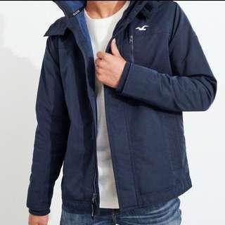 HOLLISTER HCO All Weather Jacket 連帽防風外套 AF A&F HCO 深藍
