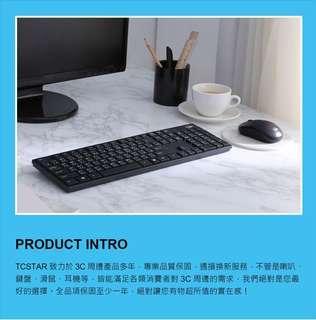 🚚 【T.C.STAR】2.4G 無線鍵盤滑鼠組/黑(TCK911)