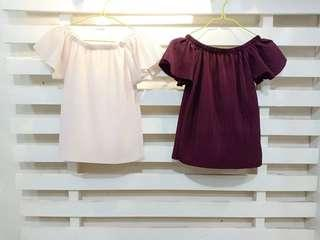 PLEATED OFF SHOULDER