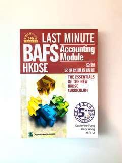 Last Minute BAFS Accounting Module