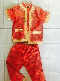 CNY Chinese traditional boys costume