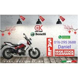 Benelli TNT 300 Naked Bike Offer Kaw-Kaw Bulanan 3xx @ AngPow CNY RM 2,000.00 #JomCkMotor